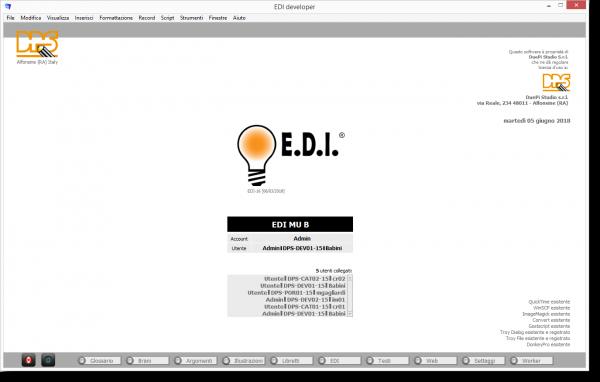 E.D.I. Software per la documentazione tecnica: Ambiente di lavoro EDI