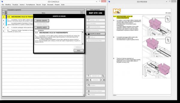 E.D.I. Software per la documentazione tecnica: Ambiente Formattazione