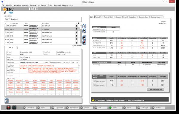 E.D.I. Software per la documentazione tecnica: Ambiente Testi